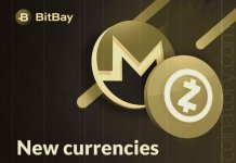 Bitbay added Monero and ZCash