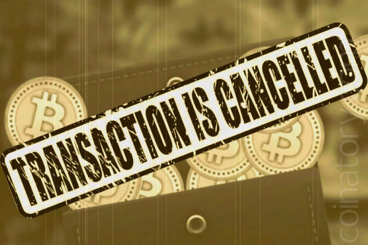Cheating at bitcoin. Canceling transactions