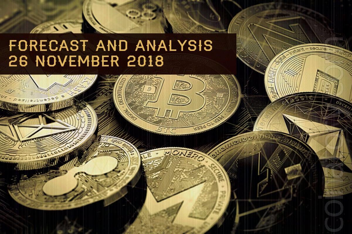 Cryptocurrency prices analysis and forecast – 26 November 2018